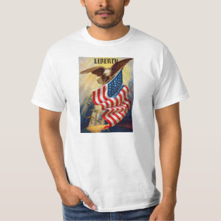 Mens T-Shirt w/ Eagle Defending Liberty