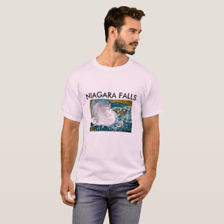 MENS T-SHIRT WITH A AIR SHOT OF NIAGARA FALLS