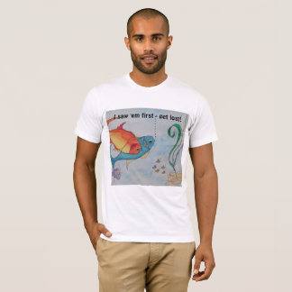 Men's T-Shirt with fish and text