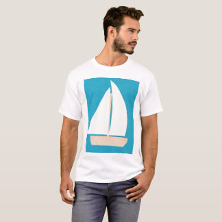Men's T-shirt with White Sailboat