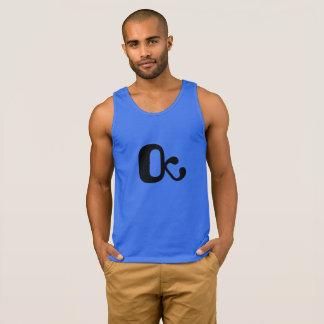Men's tank/t-shirt royal blue OctopusChicky logo Singlet