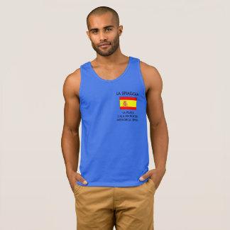 Men's Tank Top T-Shirt With Spanish Flag.