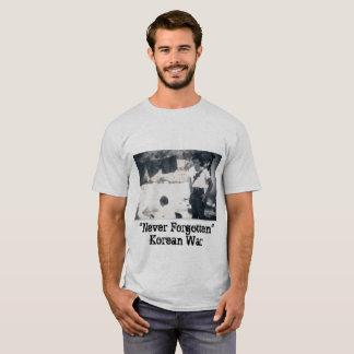"""Men's Tee Shirt """"Never Forgotten"""" Korean War"""