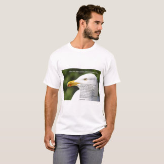 Men's tee shirt with image of seagull and poem