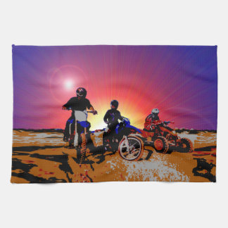 Men's Teen Boy's Motocross Motorbike Riding Tea Towel