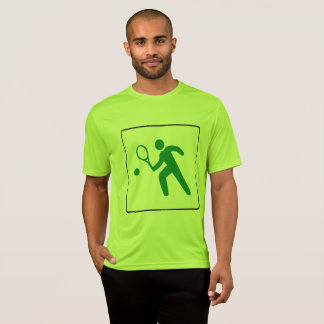 Men's Tennis T-Shirt: Colorful Large Tennis Logo T-Shirt