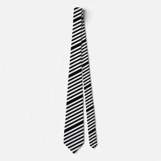 Men's Tie-Black & White Stripes Tie