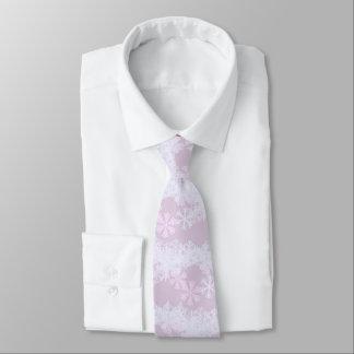 Men's Tie-Christmas Snowflakes-Orchid Tie