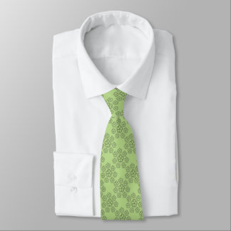 """Mens Tie """"Pearls and Flowers"""" green"""