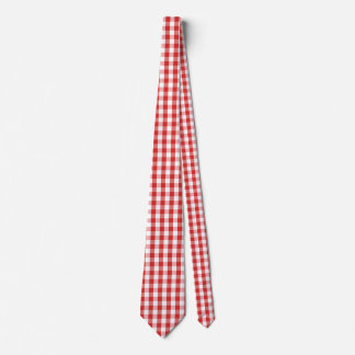 Men's Tie-Red Checkers Tie