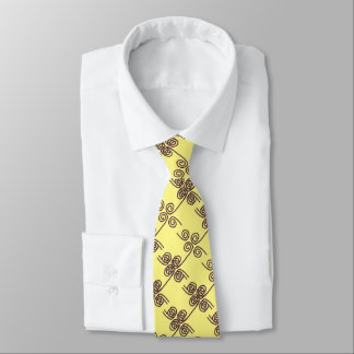 """Mens Tie Vertical """"Ropes"""" yellow brown"""