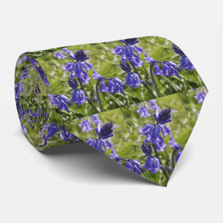 Mens tie with bluebells design