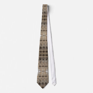 Men's Tie with Gothic Revival Architecture