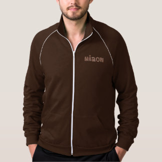 Men's track jacket with 'miaow'