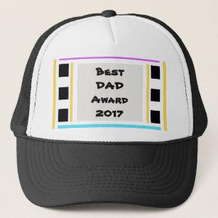 51622fa930b34 Men s Trucker Hats Hat with Best Dad Award 2017