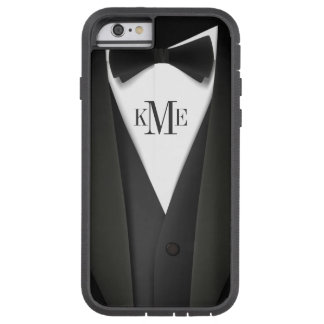 Mens Tuxedo Suit Pattern - Unique Monogram Tough Xtreme iPhone 6 Case