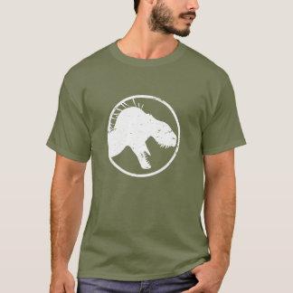 Men's Tyrant King distressed shirt, fatigue green T-Shirt