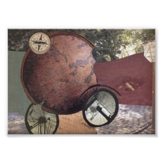 Mens Vehicle Steampunk Whimsical Original Art Photo Print