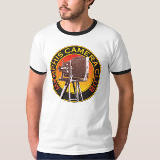 Men's View Camera Logo Basic Ringer T-Shirt
