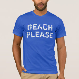 Men's Vintage Beach Please on Royal Blue T-Shirt