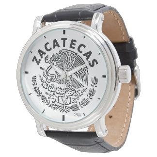 Men's Vintage Black Leather Zacatecas Mexico Strap Wristwatches