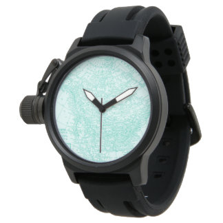Mens Watch North American Map