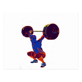 Men's weightlifting, fitness, t-shirts, postcard