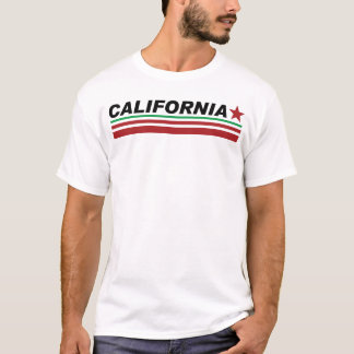 Mens White Crew Neck California Style T-shirt
