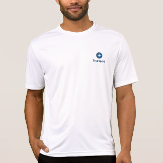 Men's White Dry Fit Shirt with Vertical Logo