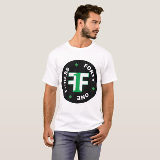 Men's White Fitness Forty One Shirt