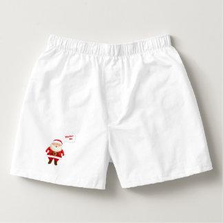 Men's White Santa Cotton Boxers