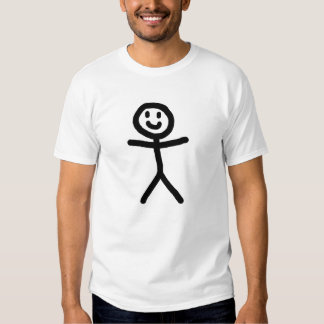 Men's White Smiley Stickman T-Shirt