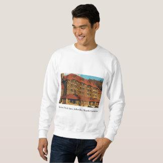 Men's White Sweatshirt with Grove Park Inn Photo