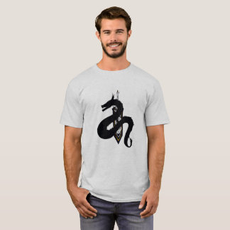 Men's White T-Shirt with Cool Dragon & Sword