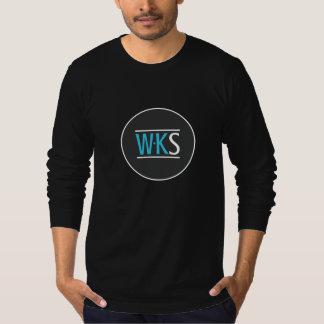 Men's WKS Long-Sleeve Black Tee Shirts