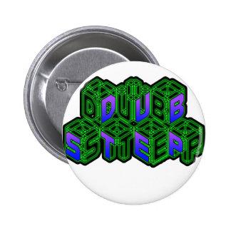 Mens Womens 3D Neon Cubes logo DUBSTEP Pin