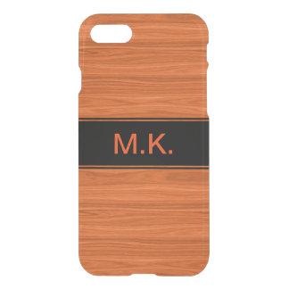 Men's Wood Grain Look iPhone 7 Case