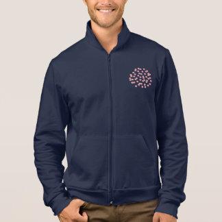Men's zip jogger with red polka dots jacket