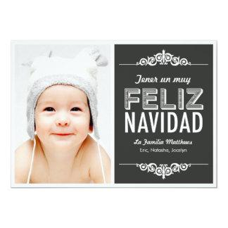 mensaje de vacaciones de Navidad tarjetas con foto Card