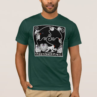 Men'sT-Shirt:  Jugendstil - Affentheater T-Shirt