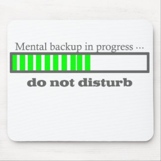 Mental backup mouse pad
