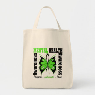 Mental Health Awareness - Butterfly Grocery Tote Bag