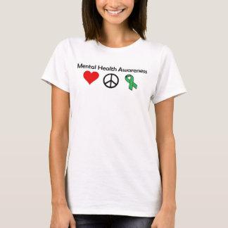 Mental Health Awareness - Love, Peace, Awareness T-Shirt