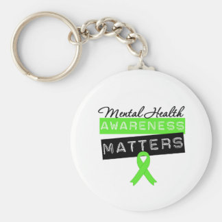 Mental Health Awareness Matters Basic Round Button Key Ring