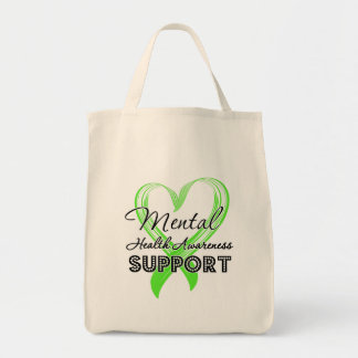 Mental Health Awareness - Support Grocery Tote Bag