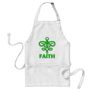Mental Health Faith Fleur de Lis Ribbon Aprons