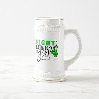 Mental Heatlh Awareness Fight Like a Girl Beer Steins