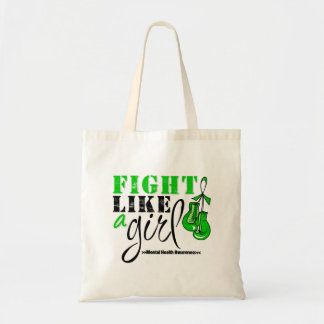 Mental Heatlh Awareness Fight Like a Girl Budget Tote Bag
