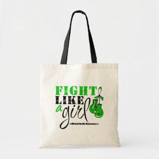Mental Heatlh Awareness Fight Like a Girl Budget Tote Bag