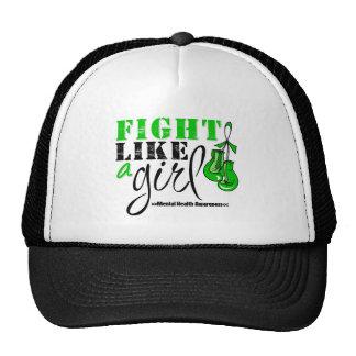 Mental Heatlh Awareness Fight Like a Girl Mesh Hat